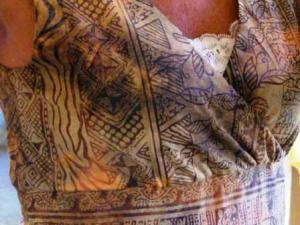 Close-up of dress top