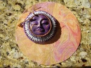 Beaded Sun Face Motif