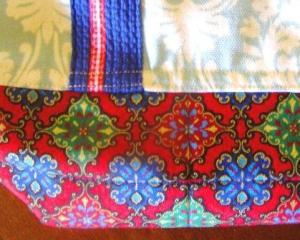 Blue Market Bag Detail