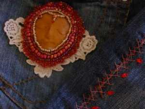 Jean Skirt Embellishment Details