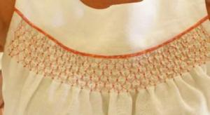 Beaded Smocking Detail