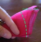 Folded Fabric showing Cutting Line
