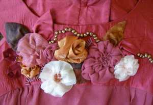 Fabric Flowers Detail from Rose Top