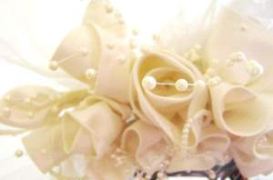 Wedding Veil Fabric Roses