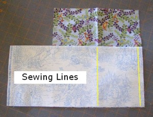 Step 3 showing sewing lines