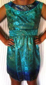 DD Dress - Front View (the stance indicates how happy she was to pose for the pix!)