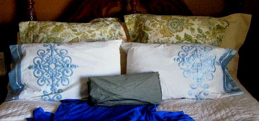 Completed Pillows and Dupioni