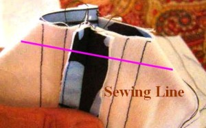 Step 12:  Gusset Sewing Line