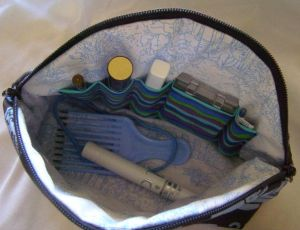 Make-Up Bag: Interior Sectioned Pocket