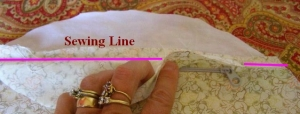 Sew Lining to Inner Pocket Piece
