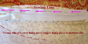 First Sewing Line for Zipper