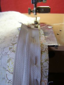 Sewing zipper to Lining Seam 1
