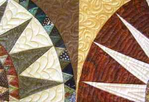Compass Points and curved quilting