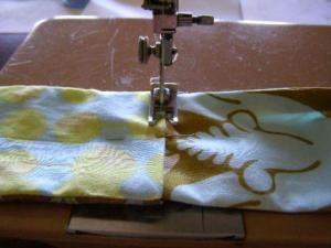 19.  Topstich the handle seam.