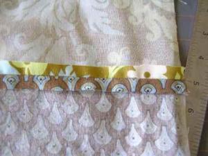 7.  Side seam pressed open