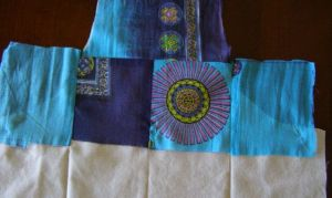 9.  Squares 1 - 4 sewn, flipped, and pressed