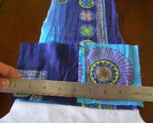 8.  Ready to sew squares 1/2 to foundation.