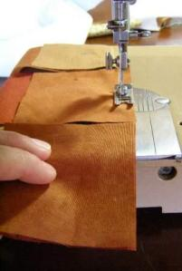 "2.  ""Railroad"" Line up the squares/rectangle seams and sew them all at once."