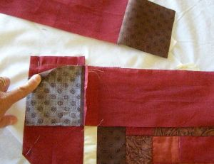 11. Sew Wide Border Rectangles and Squares as if they were just another strip.
