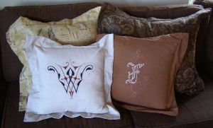 All Variety of Flanged Pillows - Lovely to Look At - Simple to Sew