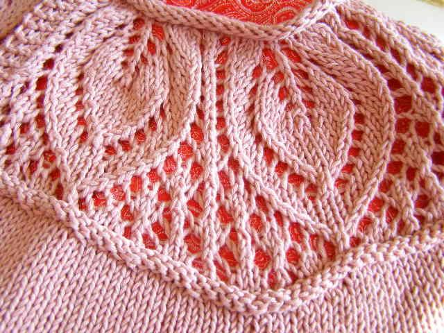 Lace Yoke Knitting Pattern : Football and Knitting The Destashification Project