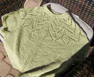 Top-Down Lace Yoke Sweater