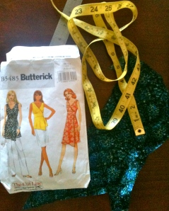 Butterick  , the fabric and the dreaded tape measure