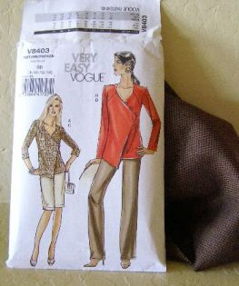Beautiful wool fabric and Vogue 8403 from The Pattern Stash
