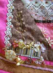 Detail: Lower left back