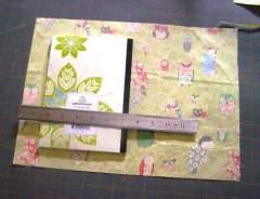 """Cut fabric 1.5 """" beyond each edge"""