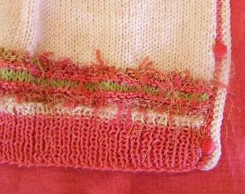 Decorative Band, Ribbing and Garter Stitch Edging