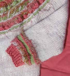 Decorative Band and Ribbing Detail on Sleeve