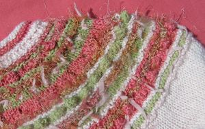 Yoke Detail on Original Bubbles and Butterfly Kisses Sweater