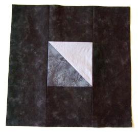Block 2:  Half Square Triangle