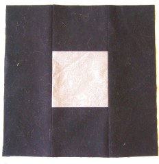 "Block with 4"" square Center Block ""Color"" 1"