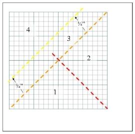 Paper Piecing Diagram Pinwheel Variation 1
