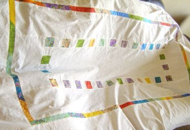 Squares and Stripe Quilt Top