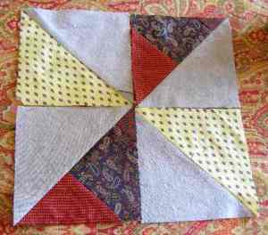 One Pinwheel block requires two sets of HST squares.