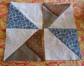 Two rectangles ready to be sewn together
