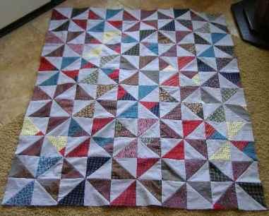 Pinwheel Quilt Top from Grandpa's Ties