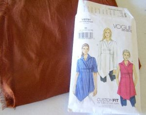 Vogue pattern and silk dupioni