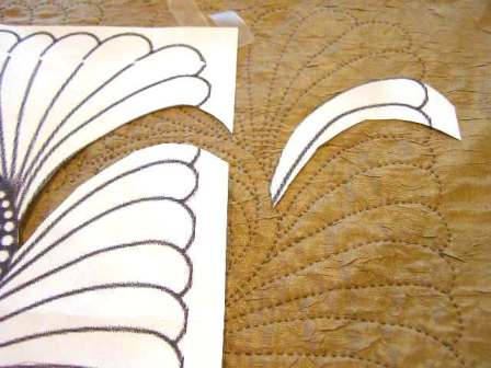 Aligning the missing feather for tracing