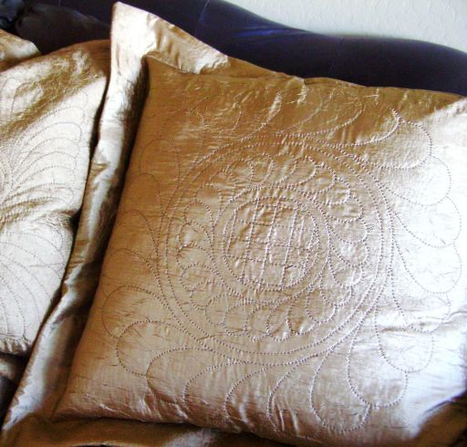 Large Quilted Pillows
