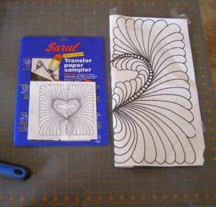 Enlarged Design and Saral Transfer Paper
