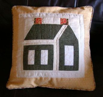 Schoolhouse Quilted Pillow