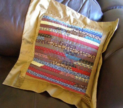 Grandpa's Ties Pillow - stripes