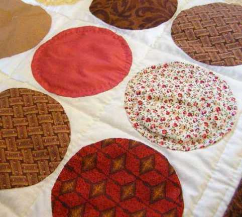 Additional quilting within circles.