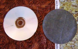 Use a CD to create 10 or so cardboard patterns