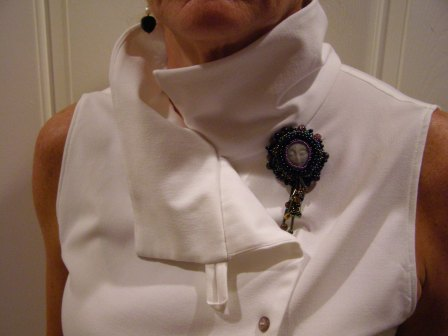 Collar and Button Detail