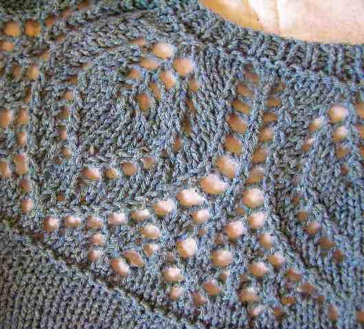 Lace Yoke Knitting Pattern : Silk Summer Sweater The Destashification Project